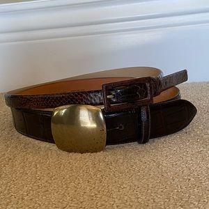 Burgundy Belts set of 2